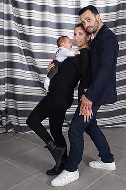 couple avec son bébé photographiés par notre photographe Rachel Joubi