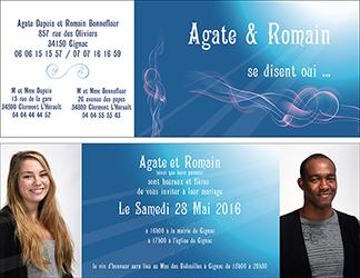 flyer pour invitation à un mariage créé par Rachel Joubi
