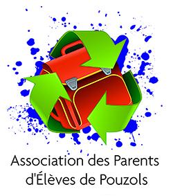 logo de l'association des parents d'élèves de Pouzols créé par notre photographe Rachel Joubi