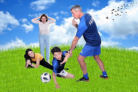 football party en extérieur pour notre photographe Rachel Joubi