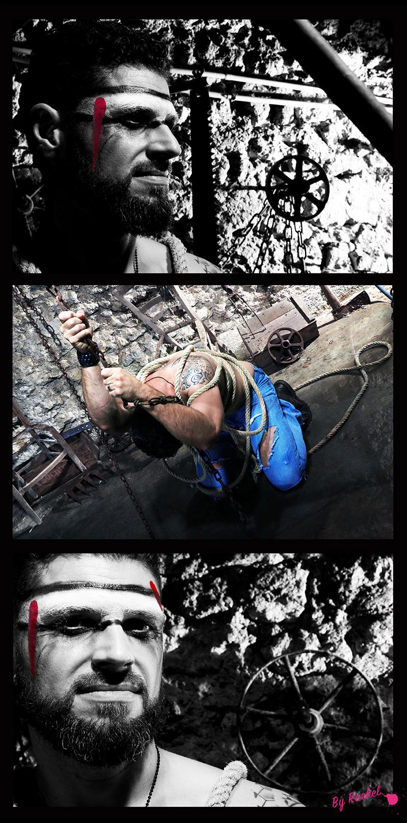 thème évolution pour l'expo photo de notre photographe Rachel Joubi, portrait très serré pour accompagner l'homme qui se libère de ses chaînes.