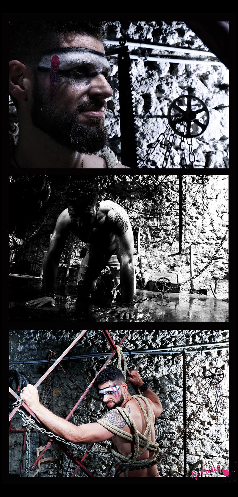 thème évolution pour l'expo photo de notre photographe Rachel Joubi, portrait très serré pour accompagner l'homme qui se libère de ses chaînes