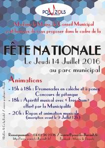 graphisme création d'une affiche pour un événement de la Mairie de Pouzols