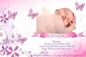 graphisme portrait d'un bébé faire-part de naissance