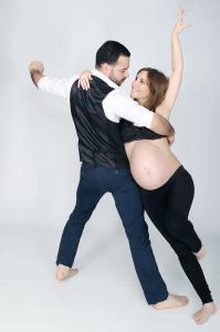 photo d'une grossesse en studio